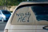 Wash me, dirty car, good morning america