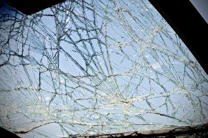 crack on windshield